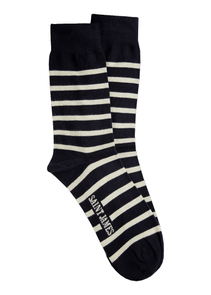 Saint James SOCKEN RAYES A Marine/Ecru 40-45