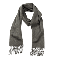 John Hanly Irish Wool Scarf - Charcoal