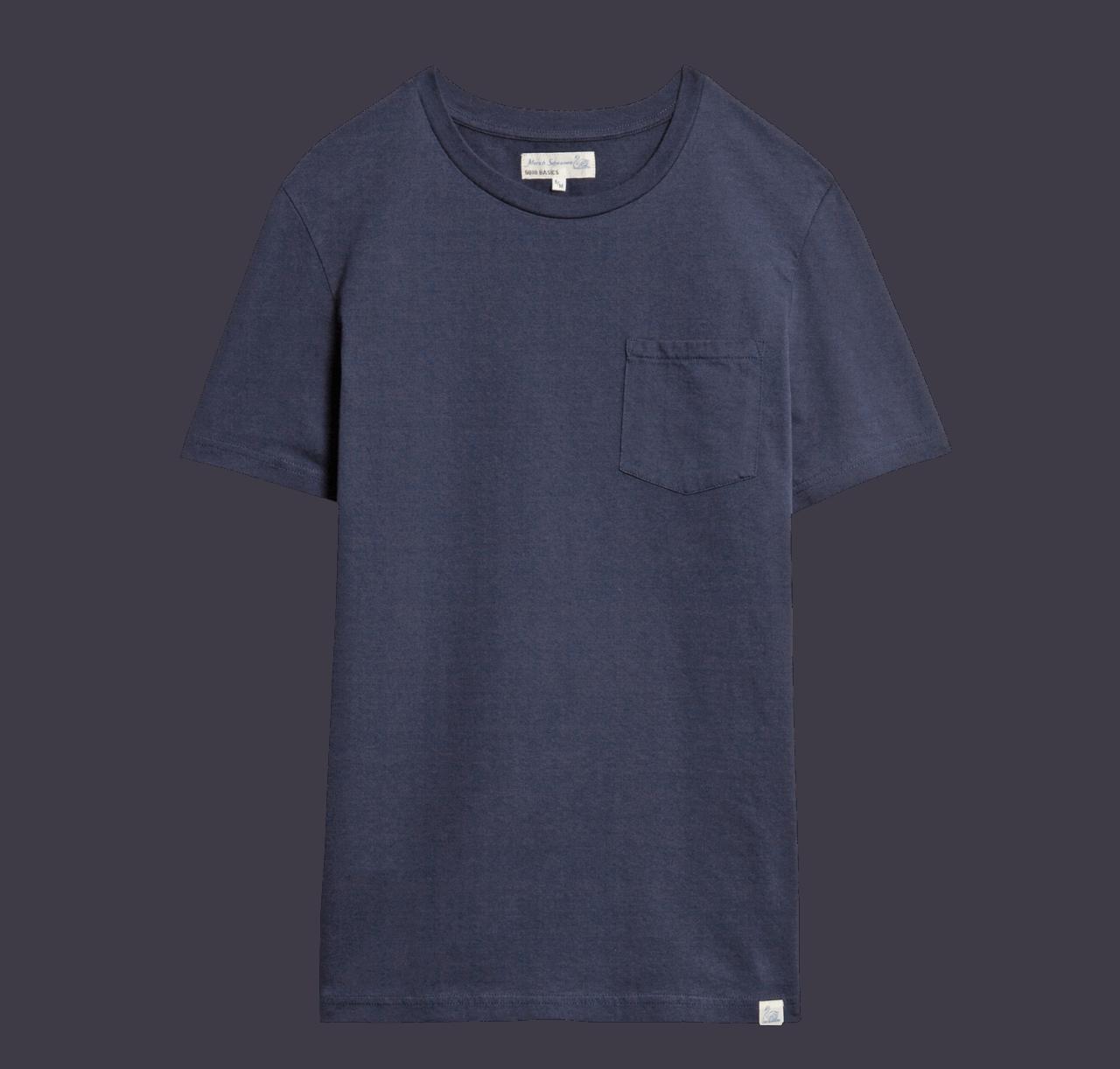 Merz beim Schwanen Basic Pocket T-Shirt - Deep Blue