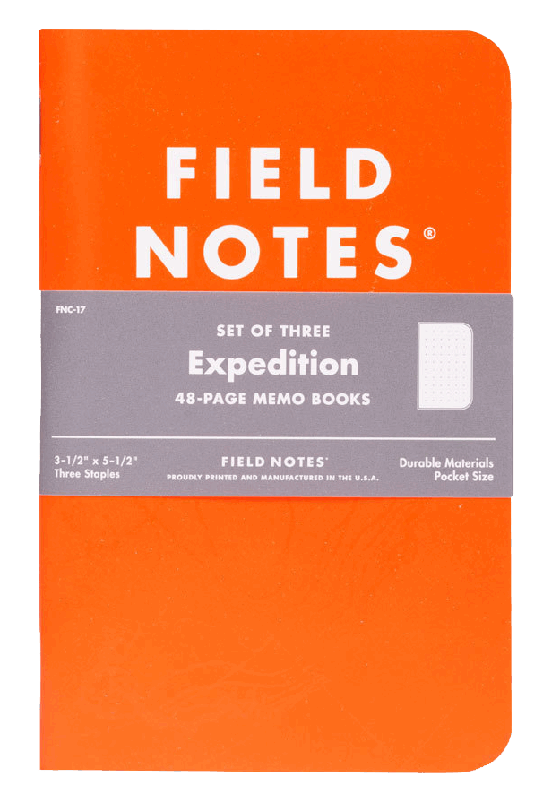 Field Notes Expedition 3er Set