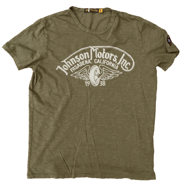Johnson Motors - Winged Wheel - Olive Drab
