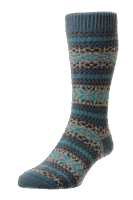 Scott Nichol Country Fairisle Stripe - petrol