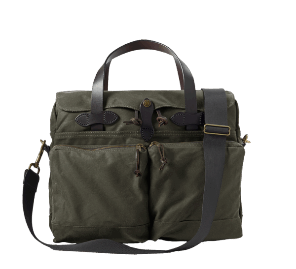 Filson 24 Hour Tin Cloth Briefcase - Otter Green