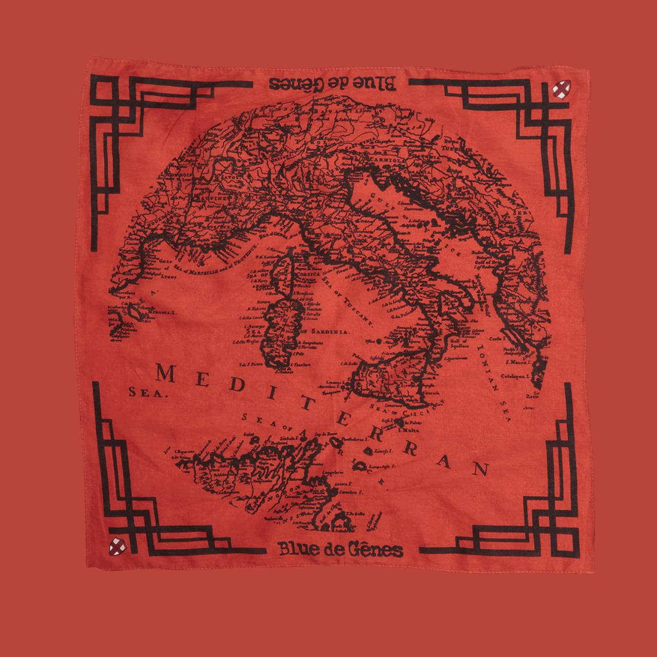 BLUE DE GENES Grafico Scarf Red