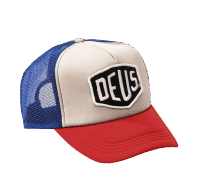 Deus Baylands Trucker Cap - blue-red