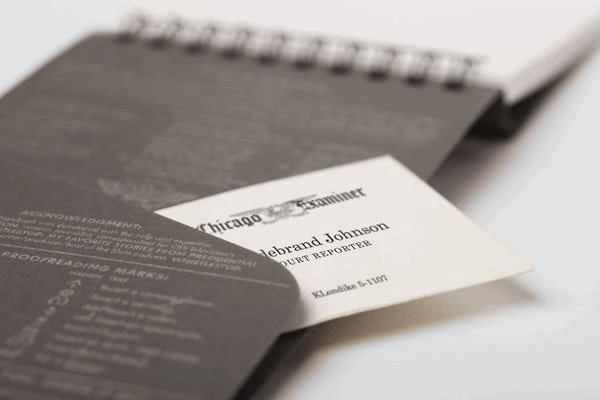 Field Notes FRONT PAGE REPORTER'S NOTEBOOKS