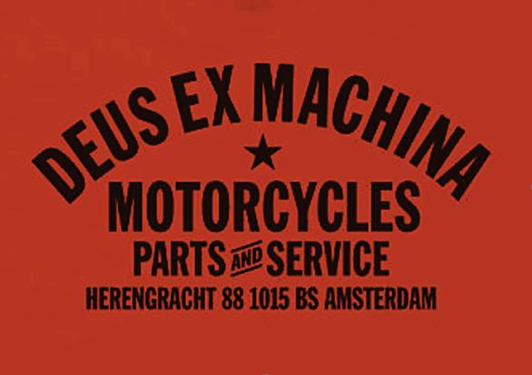 Deus Amsterdam Address Tee - Rust