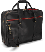 Croots Vintage Leather Flight Bag - black