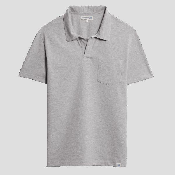Merz b. Schwanen Pocket Polo Shirt - Grey Mel