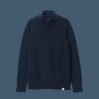 Merz b. Schwanen Half-Zip Pullover - dark navy