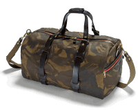 Croots Waxed Camo Duffle Bag med.