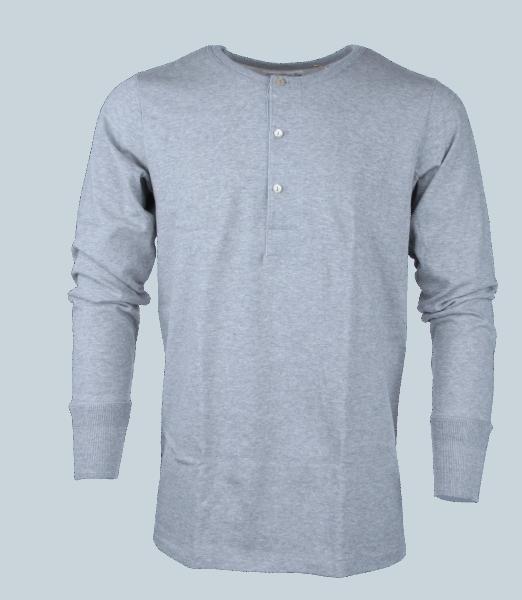 Merz b. Schwanen Knopfleistenhemd 206 - grau melange