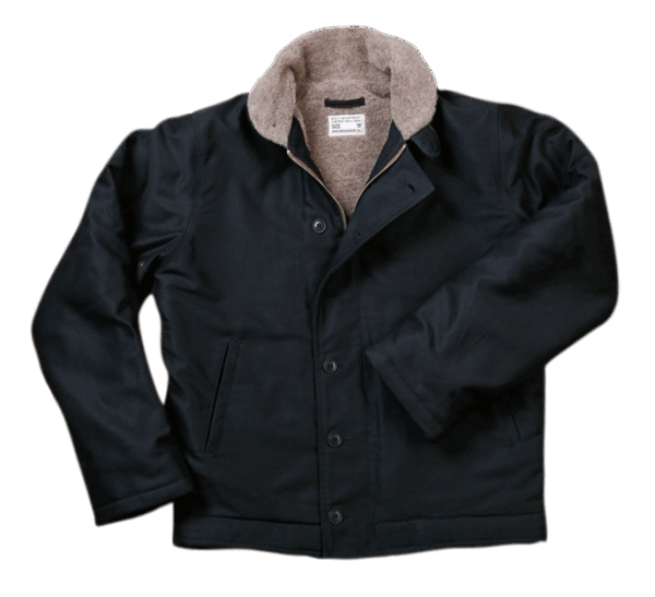 Pike Brothers 1944 N1-Deck Jacket Waxed Navy