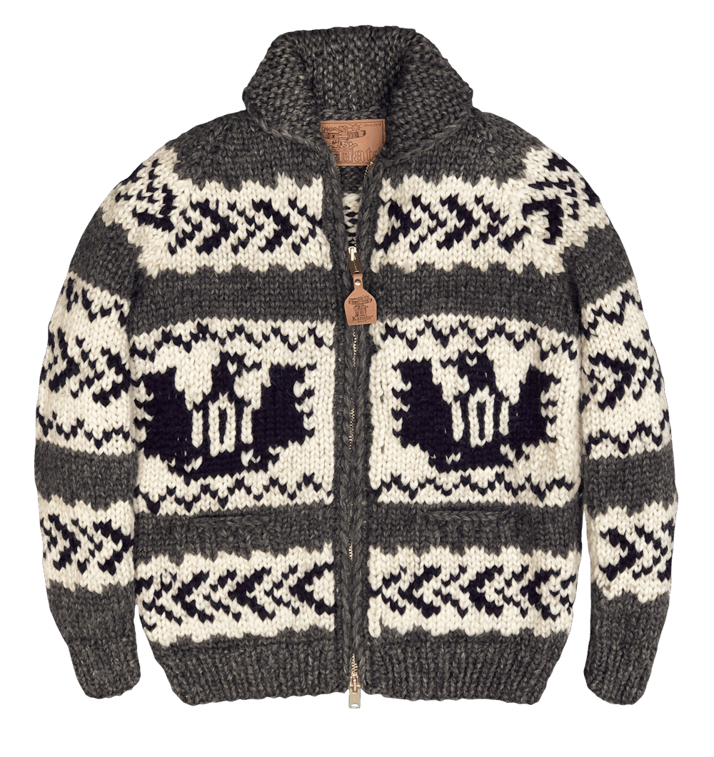 Kanata Wool Jacke - grey /ecru/ navy