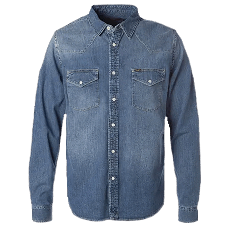 LEE Western Shirt Blue Book