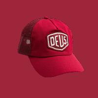 Deus Woven Shield Trucker - brick red