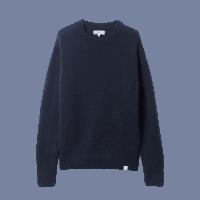 Merz b. Schwanen Classic round neck pullover - dark navy