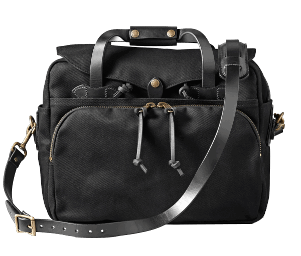 Filson Rugged Twill Padded Computer Bag - Black