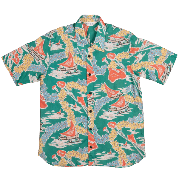Pike Brothers Hawaii Shirt - Hapuna green