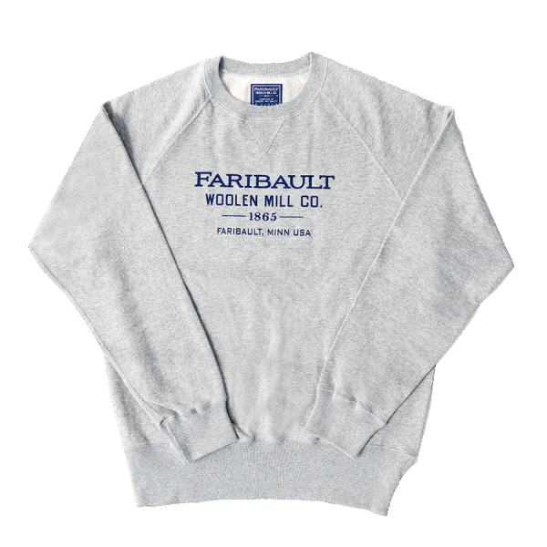Faribault Branded Sweater Gray