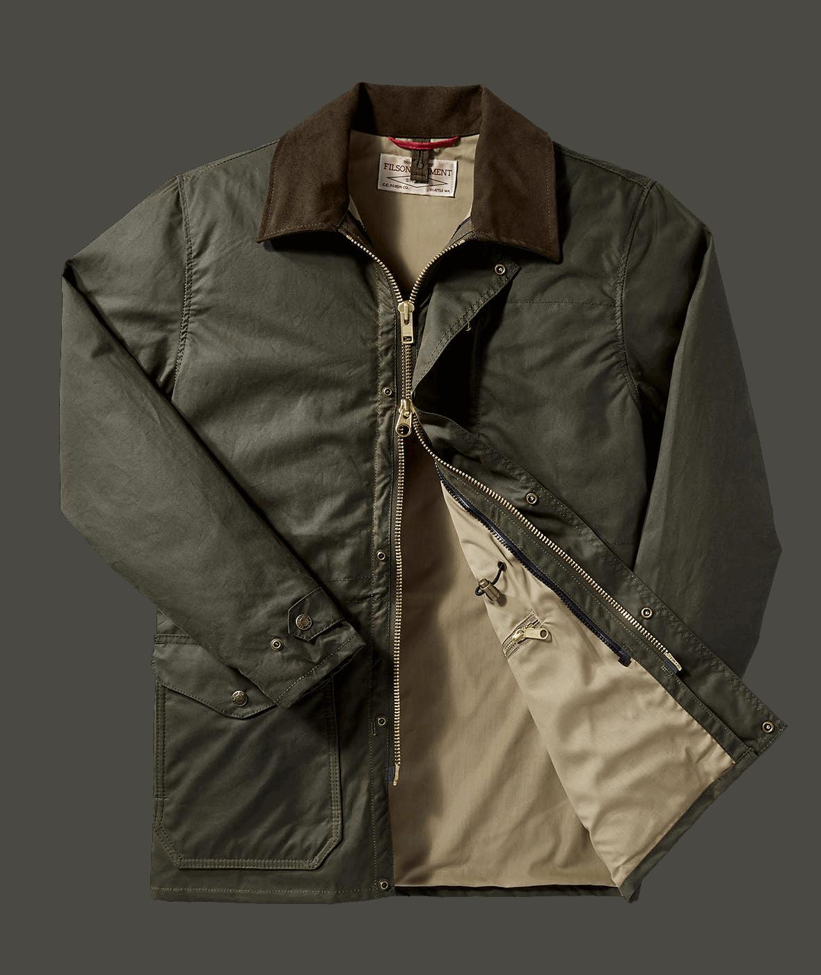 Filson Cover Cloth Mile Marker Coat Otter Green Classic