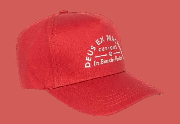 Deus Benzin Trucker Cap - Red