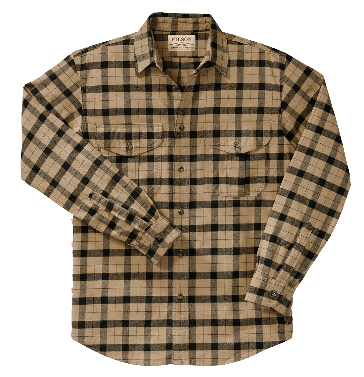 Filson Alaskan Guide Shirt camel-black