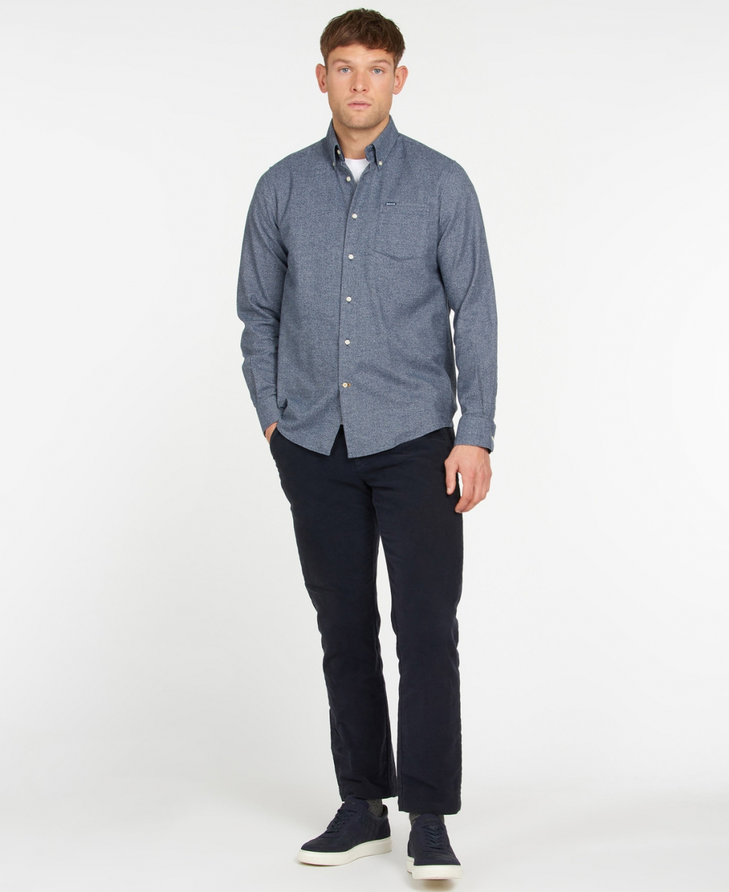 Barbour Priestcliffe Tailored Shirt - navy