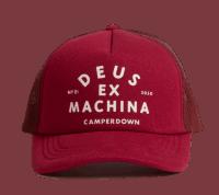 Deus Austin Camperdown Trucker Cap Red