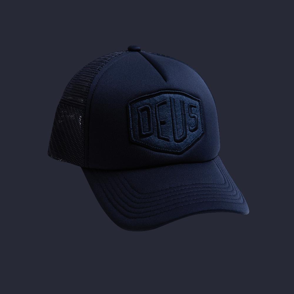 Deus Fleece Shield Trucker - midnight blue