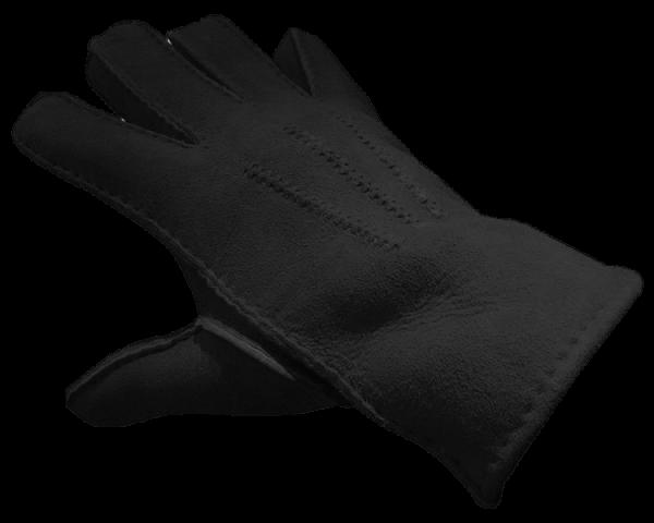 Merino Lammfell Handschuh schwarz