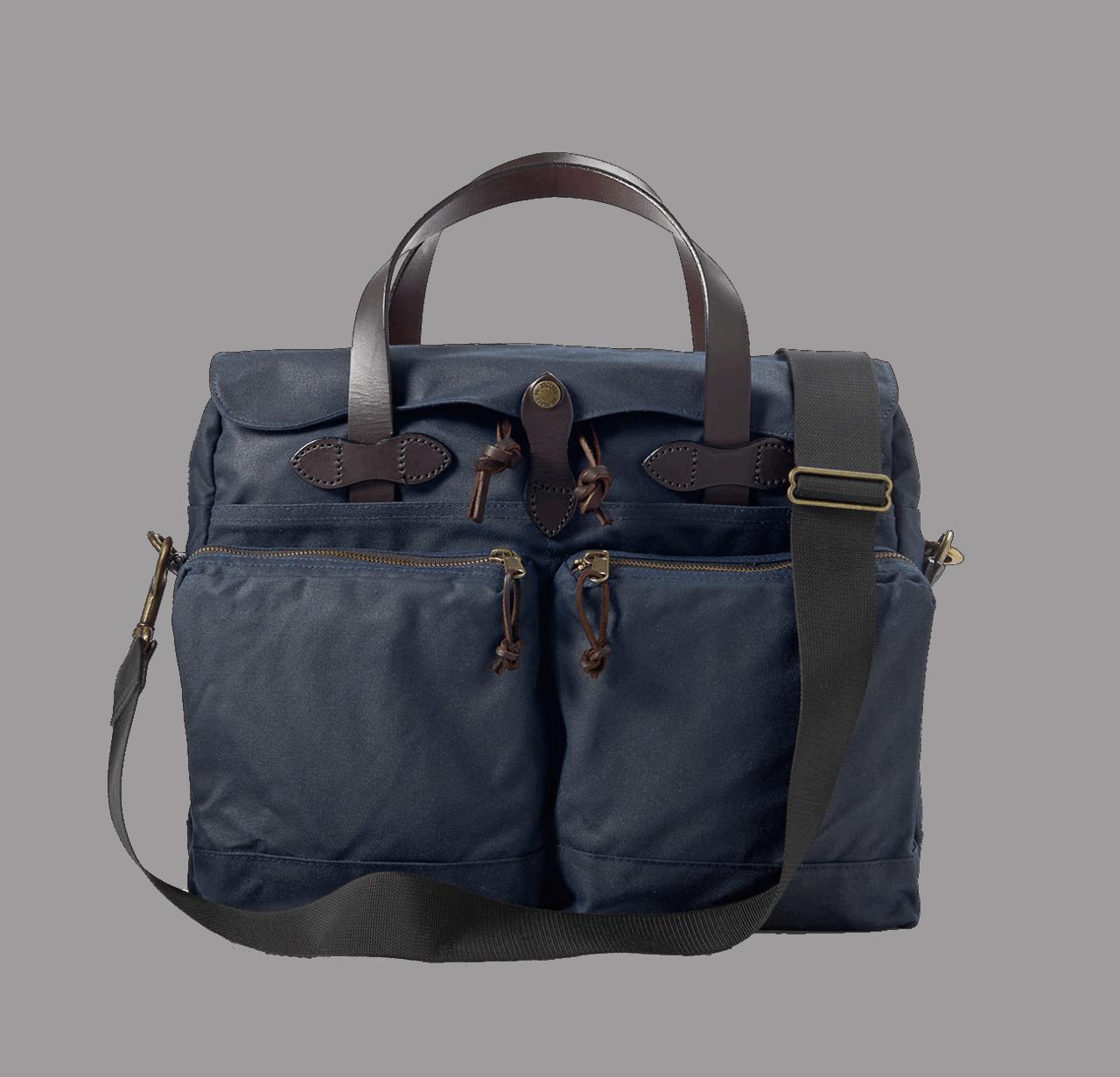 Filson 24 Hour Tin Cloth Briefcase - Navy