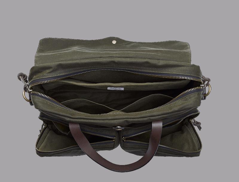 Filson 24 Hour Tin Cloth Briefcase - Otter Green