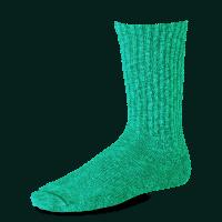Red Wing Tonal Cotton Ragg Sock - green/light green
