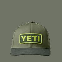 YETI Logo Badge Trucker Hat - olive/forrest