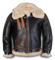 Aero Leather Type B-3 sealbrown - russet trim