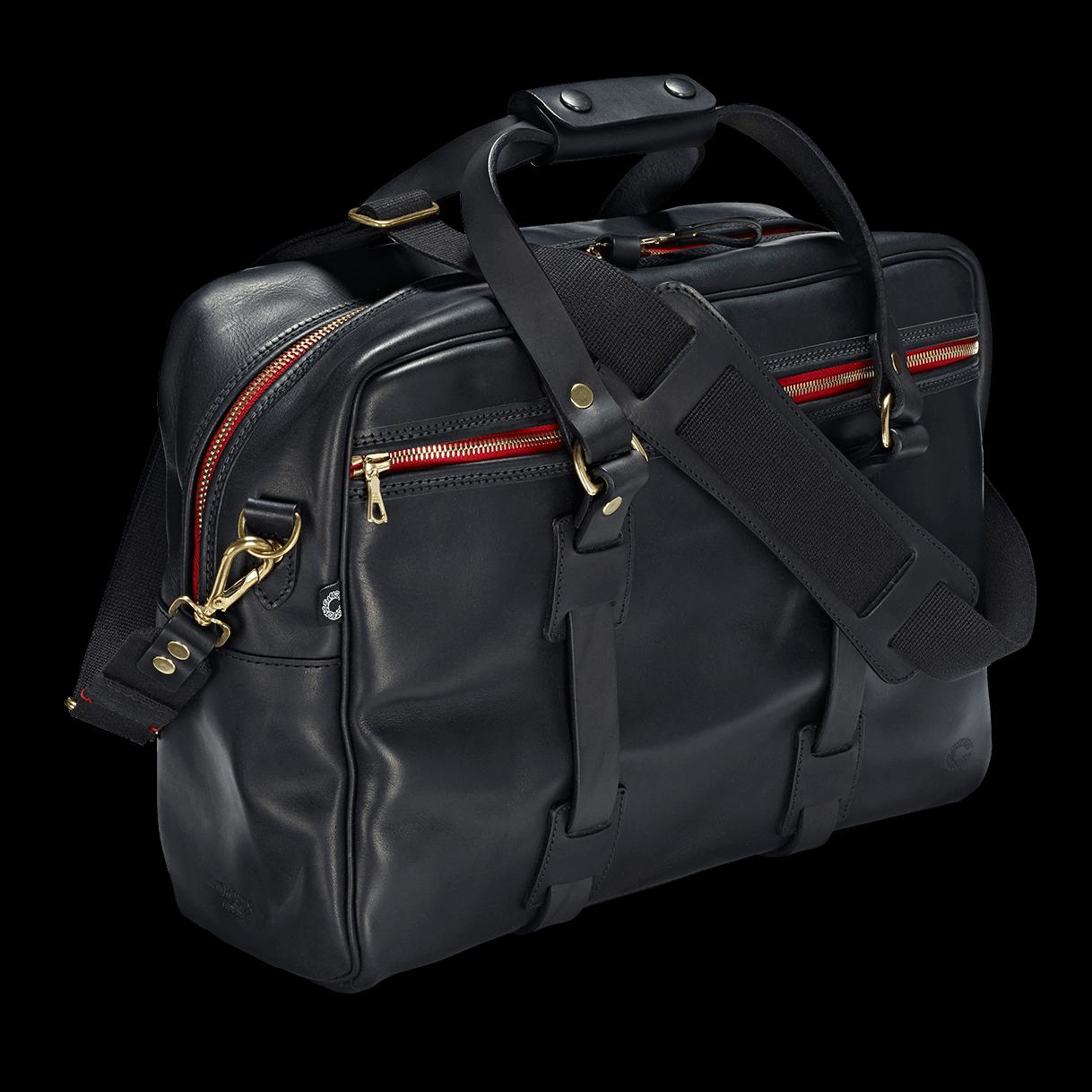 Croots Vintage Leather Traveller Bag - black