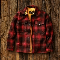 Filson Mackinaw Jac Shirt - oxblood/black