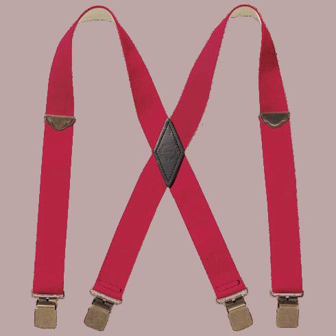Filson Clip Suspender - Red