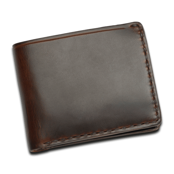 CORONADO LEATHER HORSEHIDE COIN WALLET - BROWN