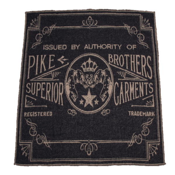 Pike Brothers 1969 Logo Blanket Faded Black