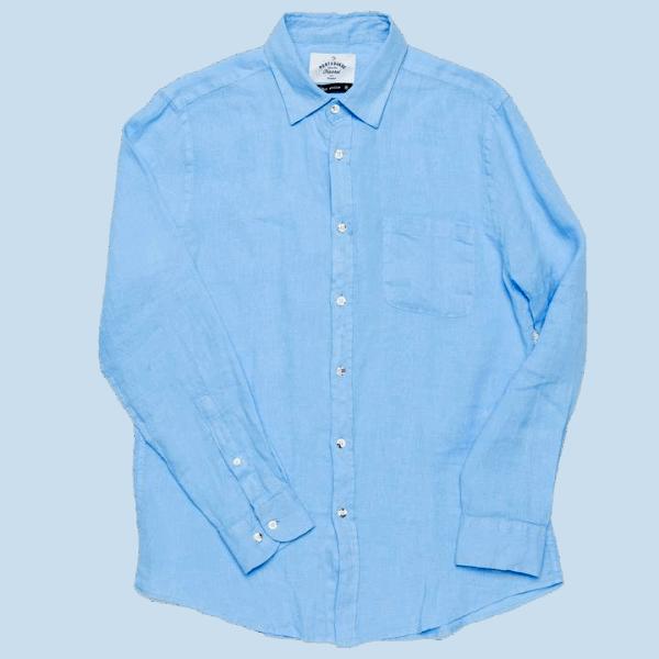 Portuguese Flannel Linen Shirt - Sky