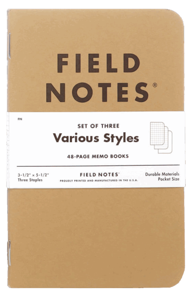 Field Notes Original Kraft - Various Styles