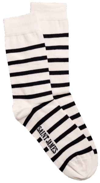 Saint James SOCKEN RAYES Ecru/ Marine 40-45