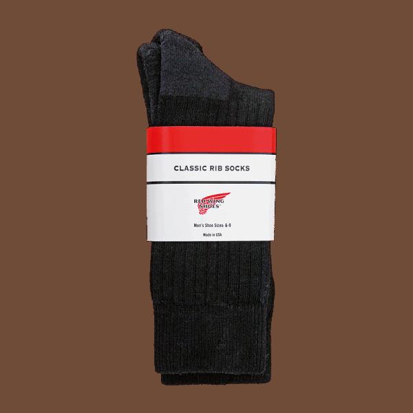 Red Wing Classic Rib Sock Black