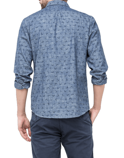 LEE Button Down Shirt, Bright Navy