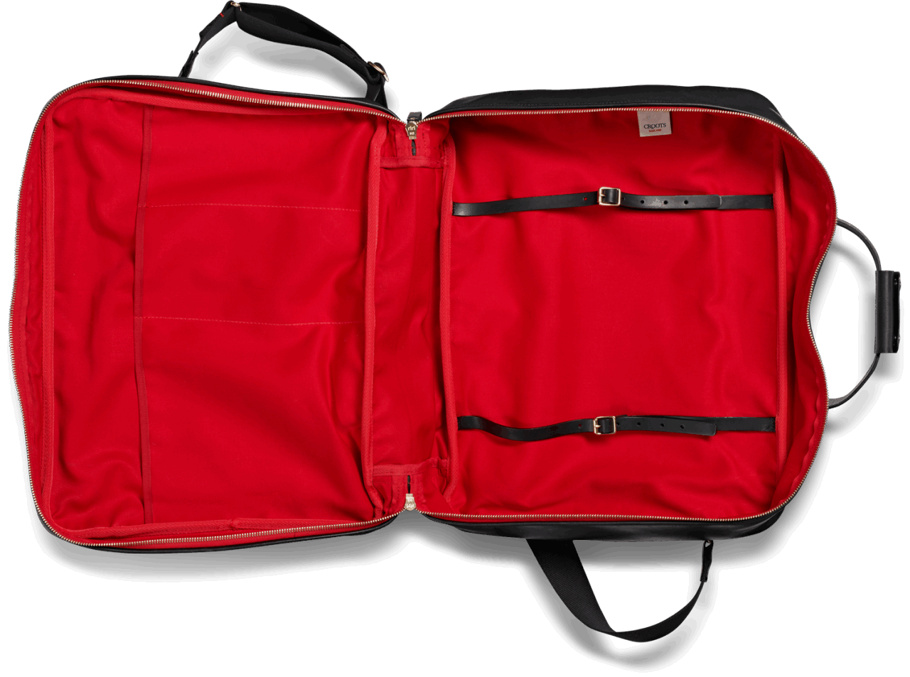 Croots Vintage Leather Flight Bag - black