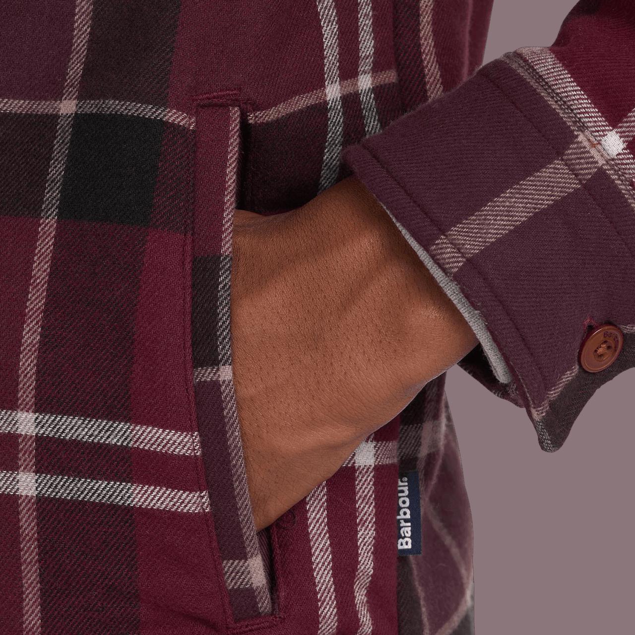 Barbour Cannich Overshirt - winter red tartan