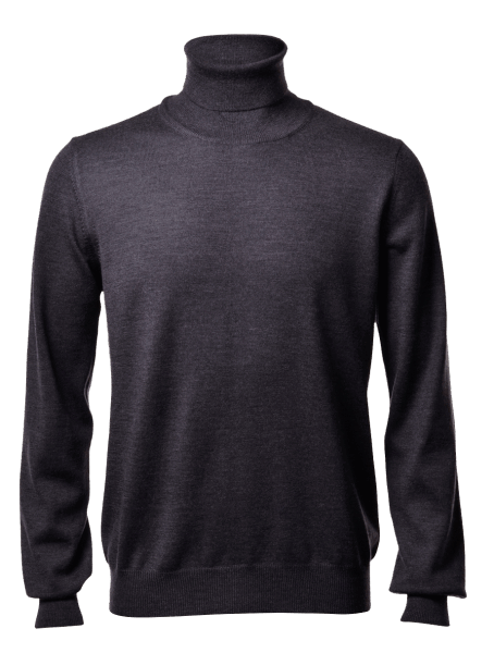 Gran Sasso turtle-neck, charcoal
