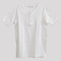 Merz b. Schwanen Knopfleisten T-Shirt 207 - weiss
